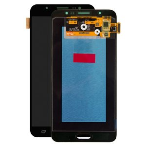 LCD compatible with Samsung J710 Galaxy J7 (2016), (black, with touchscreen, Original (PRC), original glass)