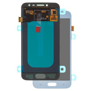 LCD compatible with Samsung J250 Galaxy J2 (2018), J250 Galaxy J2 Pro (2018), (blue, with touchscreen, original (change glass) )