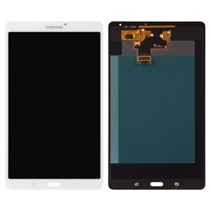 LCD for Samsung T700 Galaxy Tab S 8.4 Tablet, ((version Wi-Fi), white, with touchscreen)