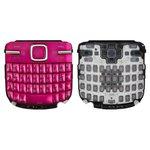 Teclado Nokia C3-00, rosada, caracteres rusos