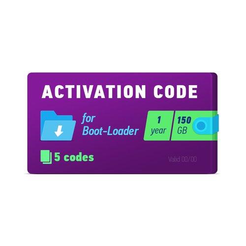Boot-Loader 2.0 Código de activación (1 año, 5 códigos x 150 GB)