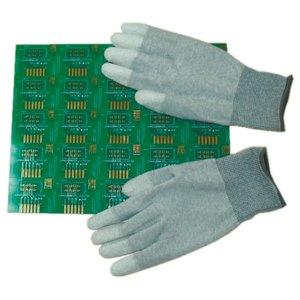 Антистатические перчатки Maxsharer Technology C0504-S с полиуретановым покрытием пальцев