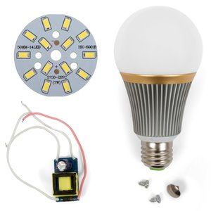 Комплект для сборки светодиодной лампы SQ-Q23 5730 7 Вт (холодный белый, E27), диммируемый