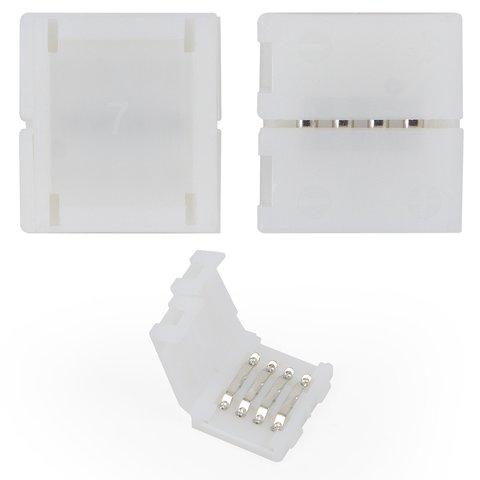 Conector recto de 4 pines para interconectar las tiras de luz LED RGB SMD5050